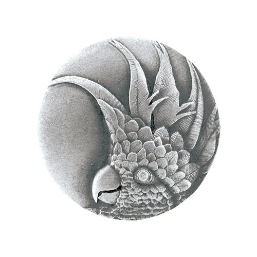 Notting Hill Tropical 1-3/8 Inch Diameter Antique Pewter Cabinet Knob NHK-324-AP-R