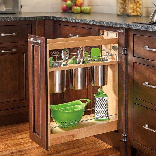 448UT 8 inch Base Organizer with 3 Bins and Shelves Maple <small>(#448UT-BCSC-8C)</small>