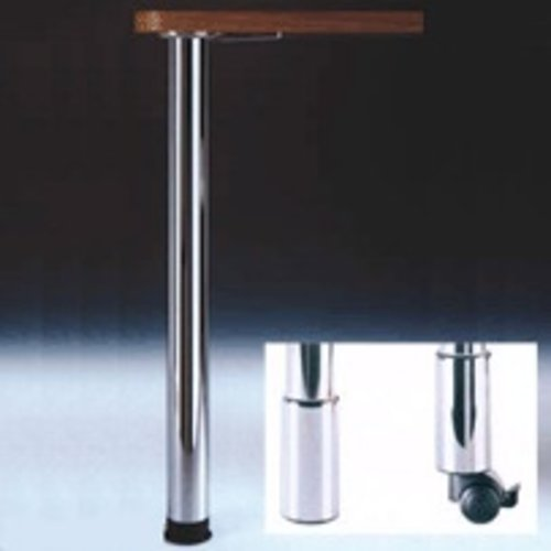 "Peter Meier Zoom Table Leg Brushed Steel 34-1/4"" H 666-8S-ST"