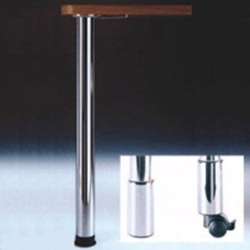 Peter Meier Zoom Table Leg Brushed Steel 34-1/4 inch H 666-8S-ST