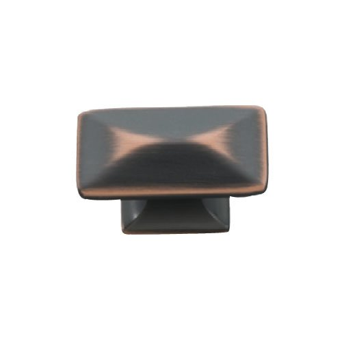 Hickory Hardware Bungalow 1-1/4 Inch Length Oil Rubbed Bronze Highlighted Cabinet Knob P2150-OBH
