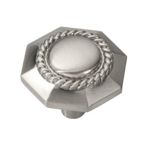 Hickory Hardware Ravel 1-3/16 Inch Diameter Satin Nickel Cabinet Knob P3453-SN