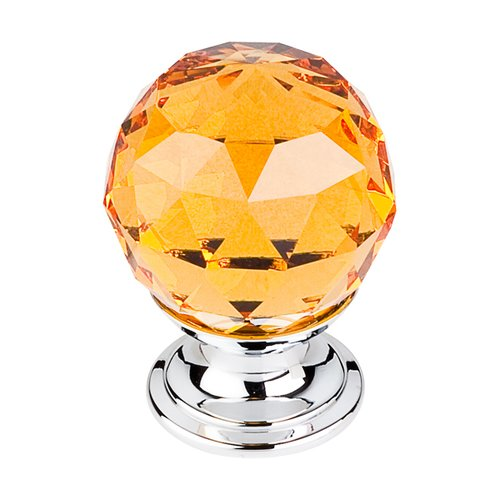 Top Knobs Crystal 1-1/8 Inch Diameter Amber Crystal Cabinet Knob TK111PC