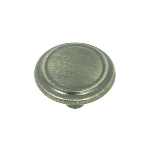 Stone Mill Hardware Princeton 1-1/4 Inch Diameter Weathered Nickel Cabinet Knob CP46434-WEN