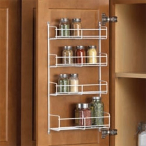"Knape and Vogt Spice Rack 10-3/4"" W- White SR15-1-W"