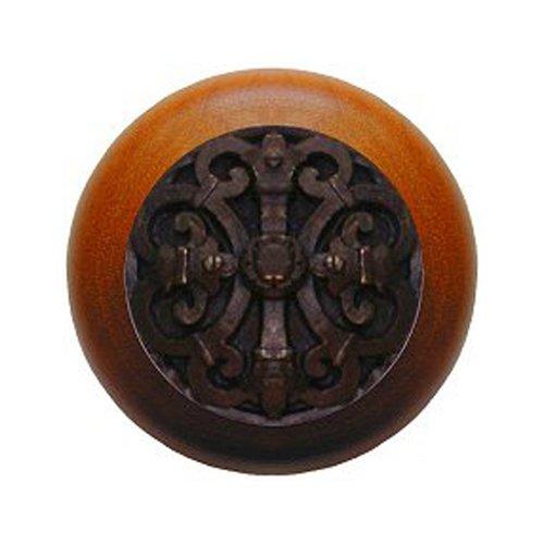 Notting Hill Olde World 1-1/2 Inch Diameter Dark Brass Cabinet Knob NHW-776C-DB