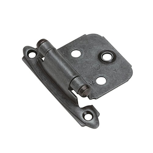 Amerock Variable Overlay Hinge-Wrought Iron-Sold Per Pair BP7139WI