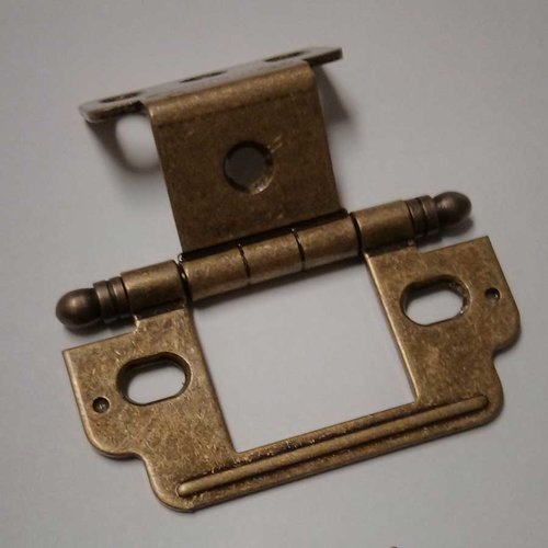 Amerock Full Inset Ball Tip Hinge-Burnished Brass Sold Each PK3180TBBB