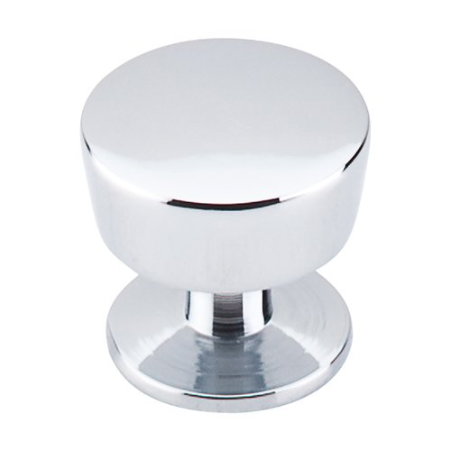 Nouveau III 1-3/16 Inch Diameter Polished Chrome Cabinet Knob <small>(#M1124)</small>