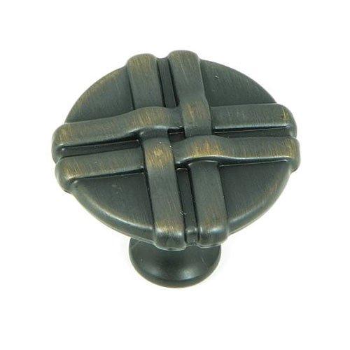 Stone Mill Hardware Sheffield 1-3/8 Inch Diameter Oil Rubbed Bronze Cabinet Knob CP1492-OB