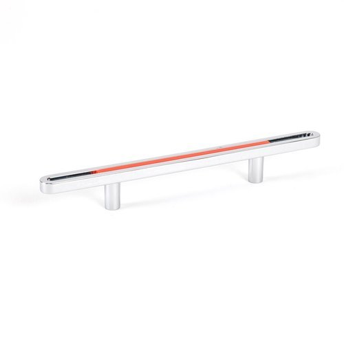 Dash 3-3/4 Inch Center to Center Orange Polished Chrome Cabinet Pull <small>(#9748-1000-P)</small>