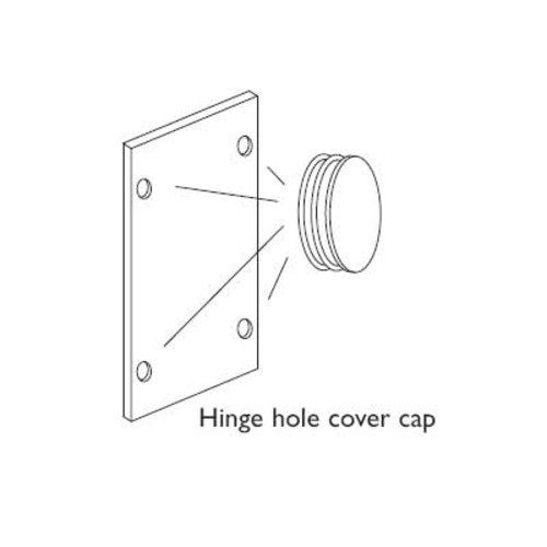 Vauth Sagel DSA Hinge Hole Cover Cap Set - White Plastic 9100 1222