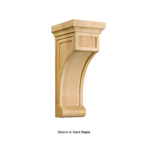 Brown Wood Medium Shaker Corbel Unfinished Paint Grade 01606001PT1