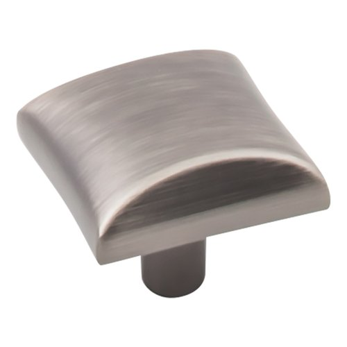 "Elements by Hardware Resources Glendale Cabinet Knob 1"" L. Brushed Pewter 525BNBDL"