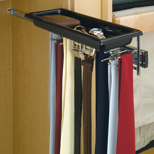 Rev-A-Shelf Tie/Belt Rack with Tray-Chrome TBC-14TCR