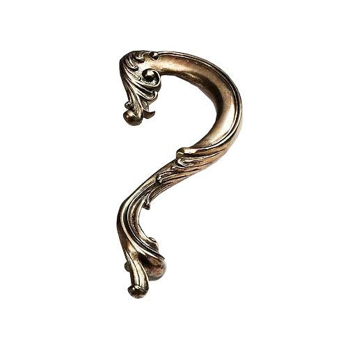 Schaub and Company French Court 5 Inch Center to Center Monticello Brass Cabinet Pull 934L MBR