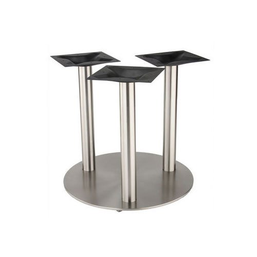 "Peter Meier 30"" Round Tri-Leg Table Base - Stainless Steel 28-5/8"" H 4030-28-SS-TRI"