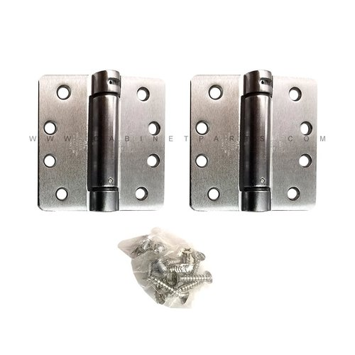 "Bommer Industries LB4311-400 1/4"" Radius Corner Single Act Spring Hinge-Chrome LB4311C-400-652"