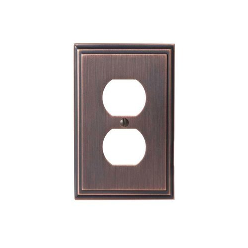 Mulholland One Receptacle Wall Plate Oil Rubbed Bronze <small>(#BP36522ORB)</small>