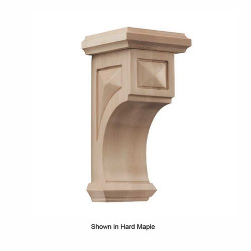 Brown Wood Pinnacle Medium Apex Corbel Unfinished Alder 01607217AL1