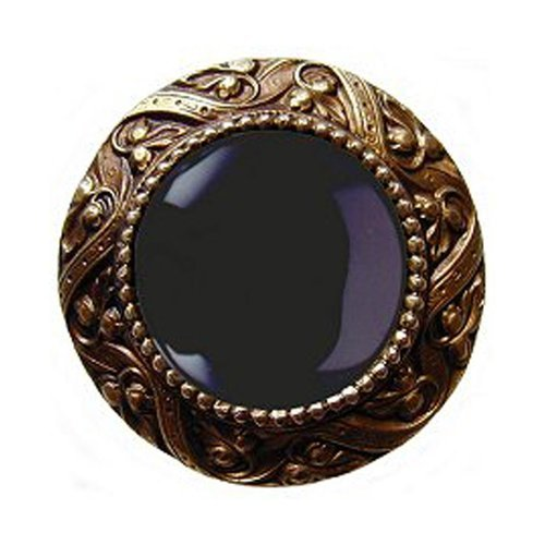 Jewel 1-5/16 Inch Diameter Antique Brass Cabinet Knob <small>(#NHK-124-AB-O)</small>