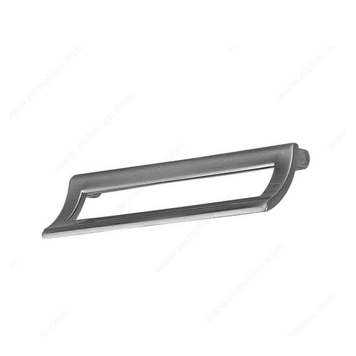 Richelieu Geometric 5-1/16 Inch Center to Center Brushed Nickel Cabinet Pull 745236128195