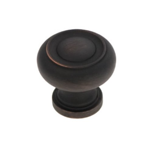 Cottage 1-1/4 Inch Diameter Vintage Bronze Cabinet Knob <small>(#P3151-VB)</small>