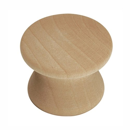 "Natural Woodcraft Knob 7/8"" Dia Unfinished Wood <small>(#P183-UW)</small>"