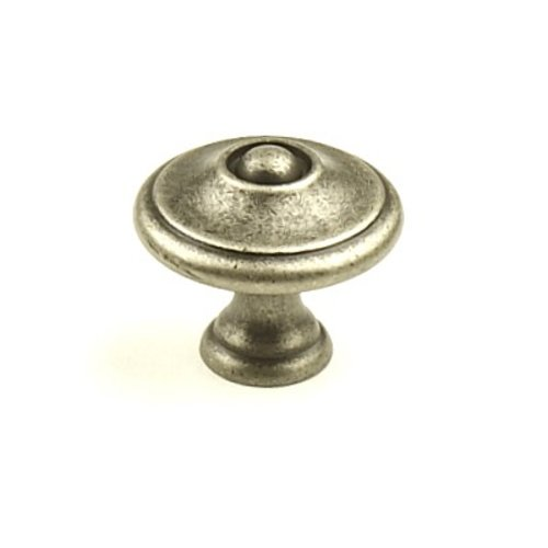 Hartford 1-3/16 Inch Diameter Aged Pewter Cabinet Knob <small>(#15825-AP)</small>