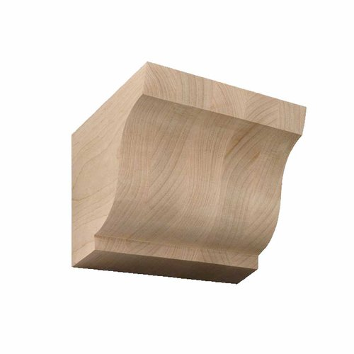 Brown Wood Medium Simplicity Corbel Unfinished Hard Maple 01607001HM1