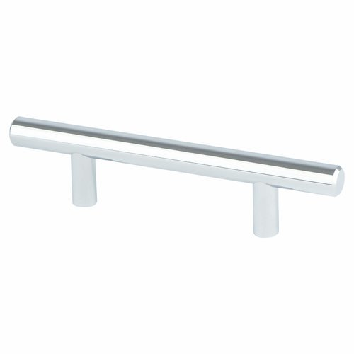 Berenson Tempo 3 Inch Center to Center Polished Chrome Cabinet Pull 2012-2026-P