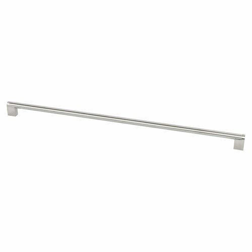 Berenson Studio 22-11/16 Inch Center to Center Stainless Steel Cabinet Pull 2027-90SS-P