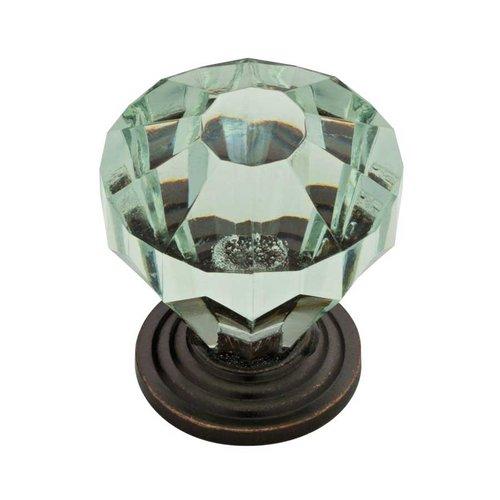 Liberty Hardware Design Facets 1-1/4 Inch Diameter Statuary Bronze & Celadon Cabinet Knob P30122-299-C