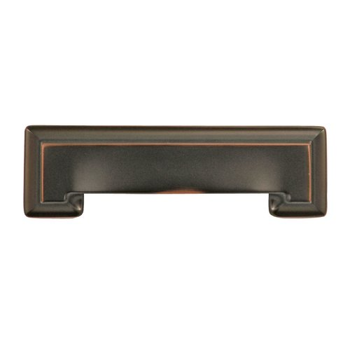 Hickory Hardware Studio 3-3/4 Inch Center to Center Oil Rubbed Bronze Highlighted Cabinet Pull P3013-OBH