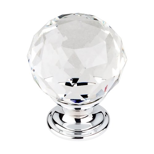 Top Knobs Crystal 1-3/8 Inch Diameter Clear Crystal Cabinet Knob TK126PC