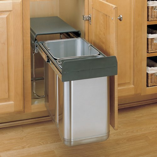 Rev A Shelf Premium Double Pull Out Trash Bin System 30