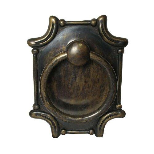 Gado Gado Ring Pulls 7-1/2 Inch Diameter Unlacquered Antique Brass Cabinet Ring Pull HRP4040
