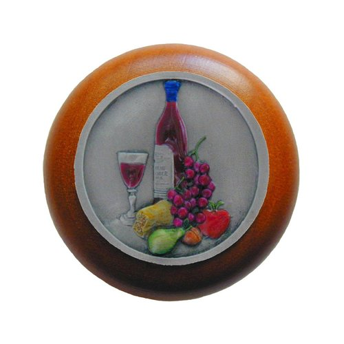 Notting Hill Tuscan 1-1/2 Inch Diameter Pewter Hand Tinted Cabinet Knob NHW-740C-PHT