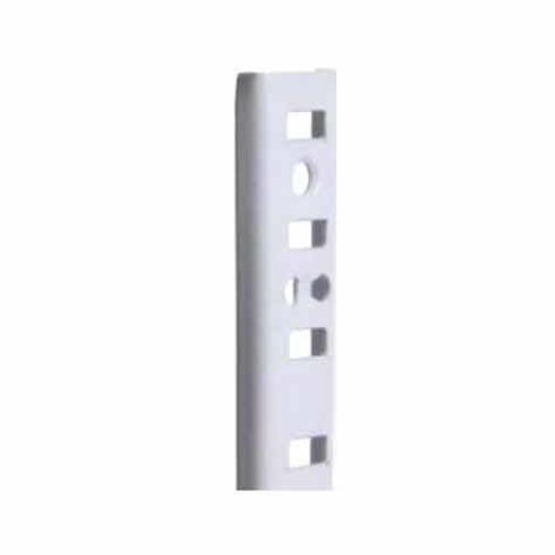 "Knape and Vogt KV #255 Steel Pilaster Strip- White 72"" 255 WH 72"