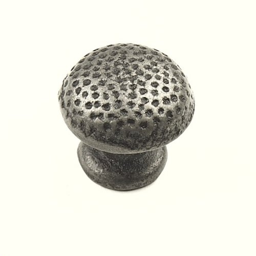 Savannah 1-1/4 Inch Diameter Wrought Iron Cabinet Knob <small>(#48216-WI)</small>