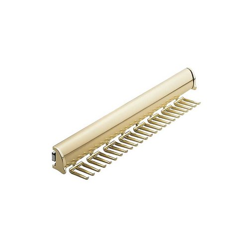 "Hafele Elite Tie Rack Polished Brass 17-7/8"" L - 24 Hook 807.67.805"