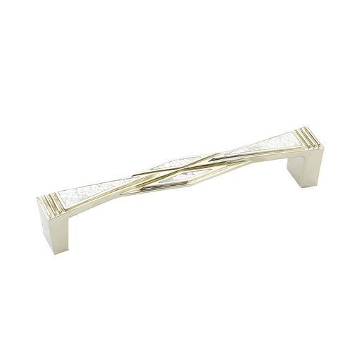 Schaub and Company Crescendo 5-5/8 Inch Center to Center Mother of Pearl, Polished Nickel Cabinet Pull 616-MOP/PN