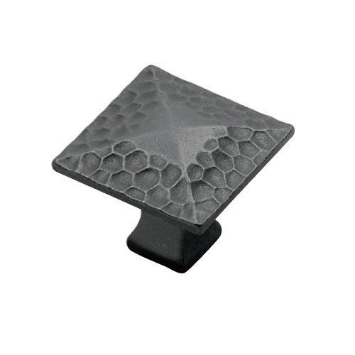 Hickory Hardware Craftsman 1-1/4 Inch Diameter Black Iron Cabinet Knob P2172-BI