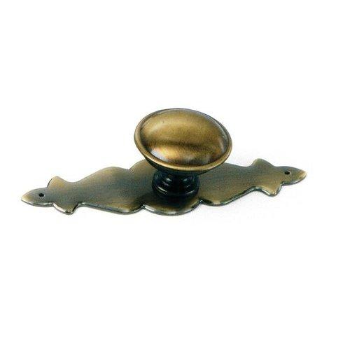 Laurey Hardware Classic Traditions Knob 1-1/4 inch Diameter Antique Brass 22105