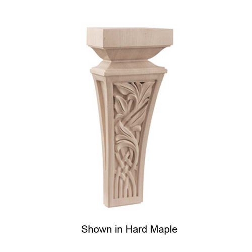 Brown Wood Nouveau Small Corbel Unfinished Walnut 01601357WL1