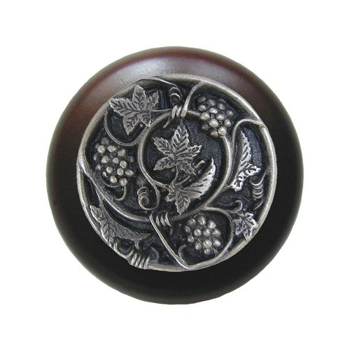 Notting Hill Tuscan 1-1/2 Inch Diameter Antique Pewter Cabinet Knob NHW-729W-AP