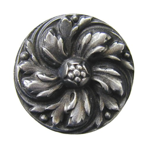 English Garden 1-3/8 Inch Diameter Antique Pewter Cabinet Knob <small>(#NHK-100-AP)</small>