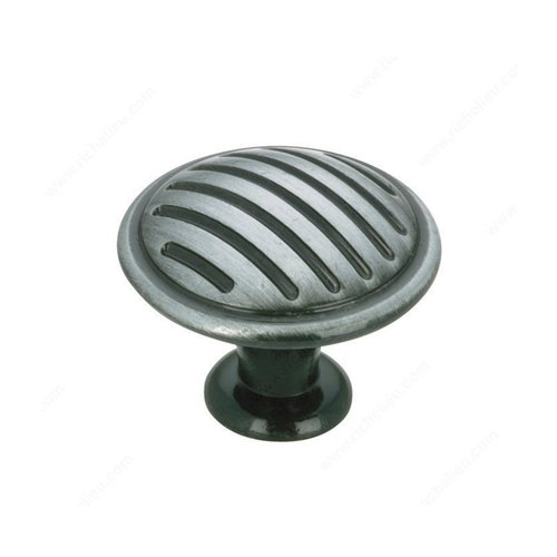 Richelieu Art Deco 1-3/16 Inch Diameter Antique Iron Cabinet Knob BP16930903