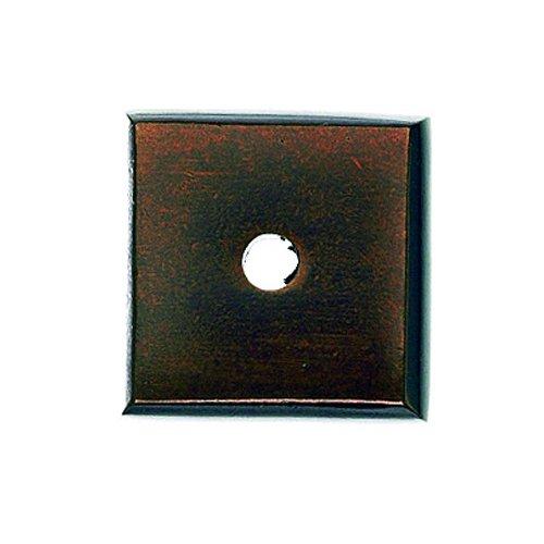 Top Knobs Aspen 7/8 Inch Diameter Mahogany Bronze Back-plate M1448