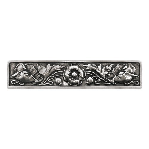 Notting Hill English Garden 3 Inch Center to Center Brilliant Pewter Cabinet Pull NHP-675-BP